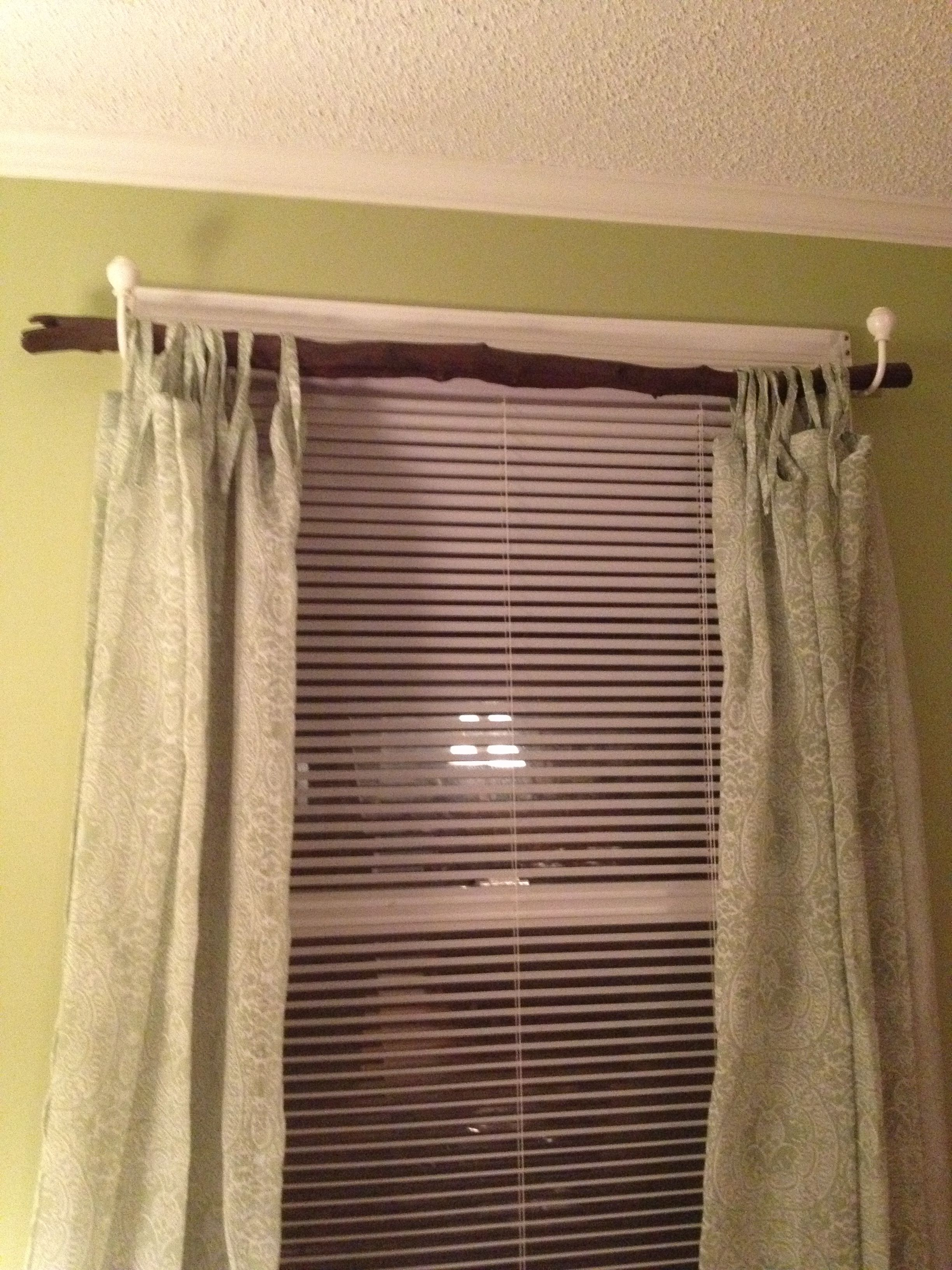 tree branch curtain rod home pinterest