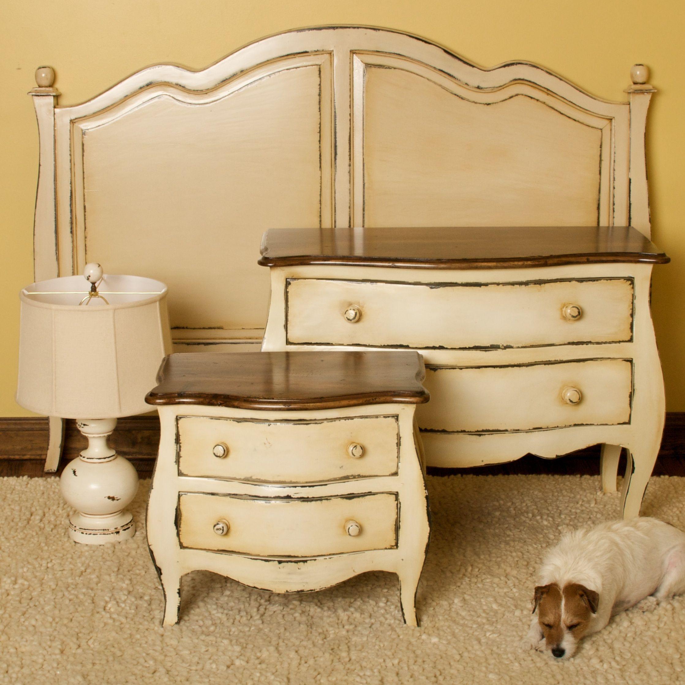 antique cream bedroom decor love furniture pinterest