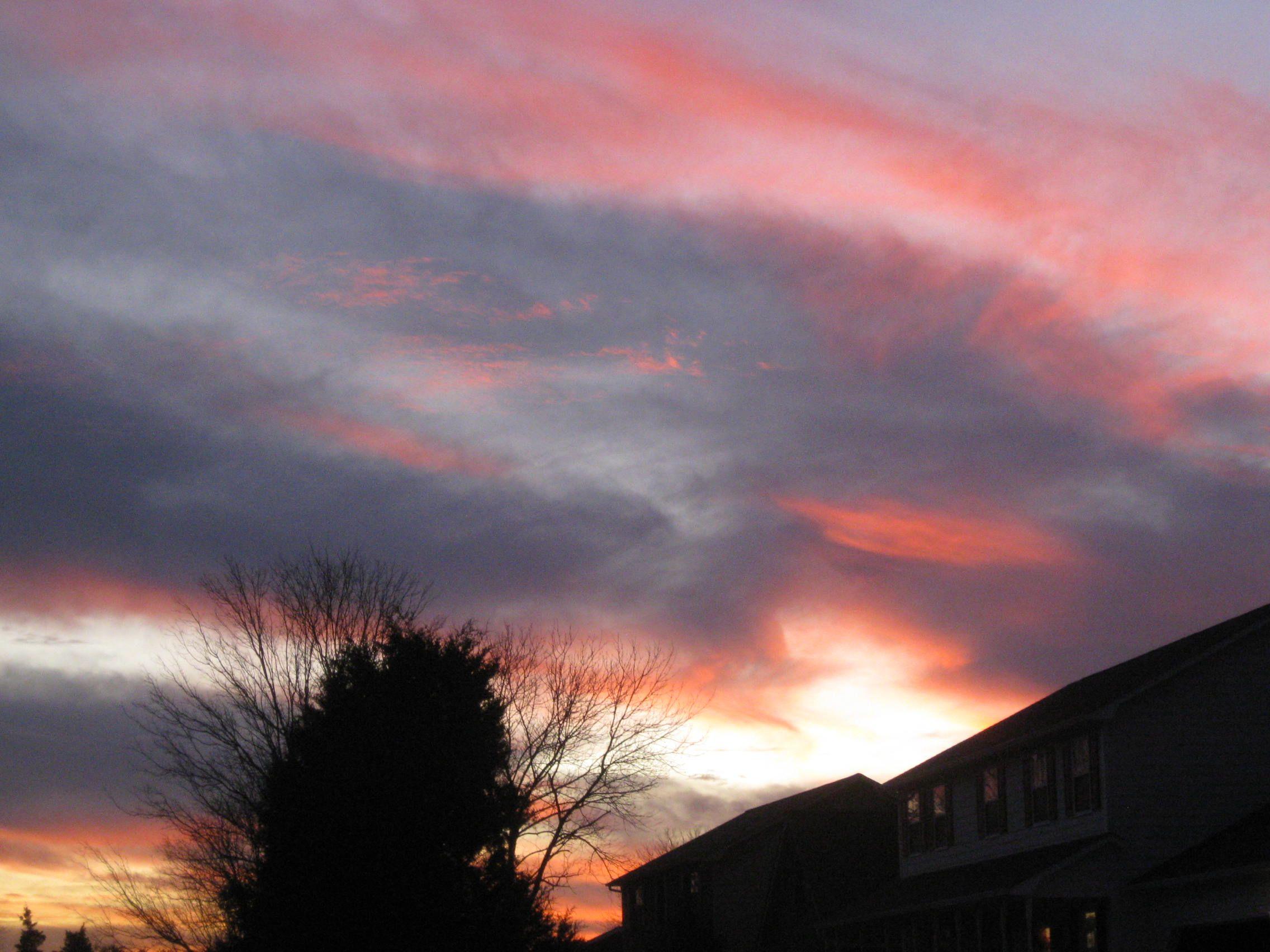 beautiful winter sunset | Astronomy&Sky Pics | Pinterest