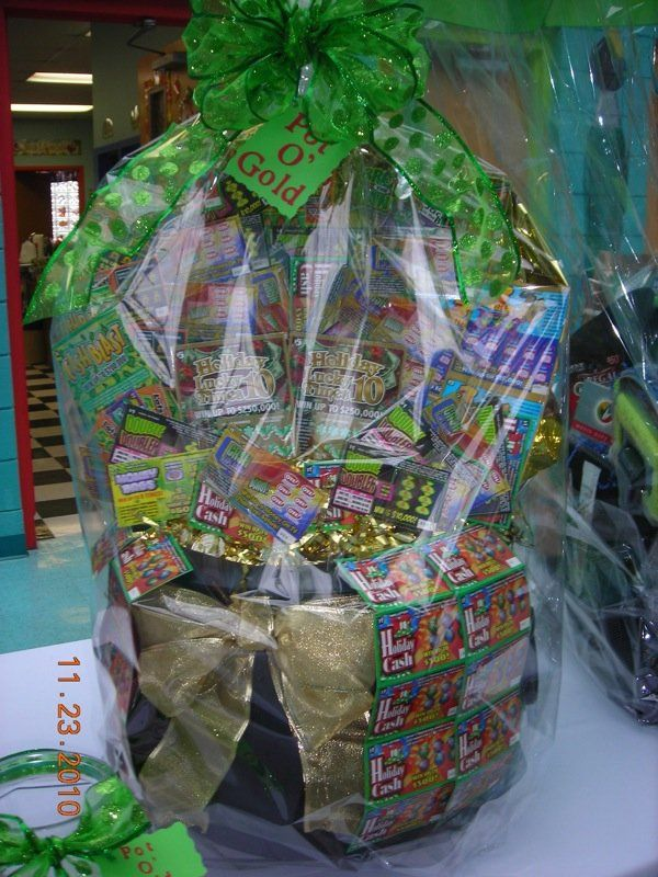 chinese auction gift baskets using lottery tickets | just ...