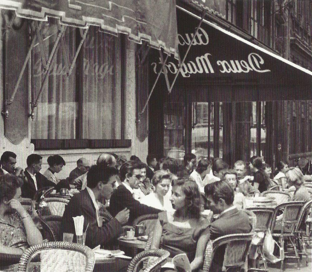 Terrasse Vintage : Paris 1957 u0026quot;Terrasse des Deux Magots u0026quot; PARIS 30, 40, 50 y