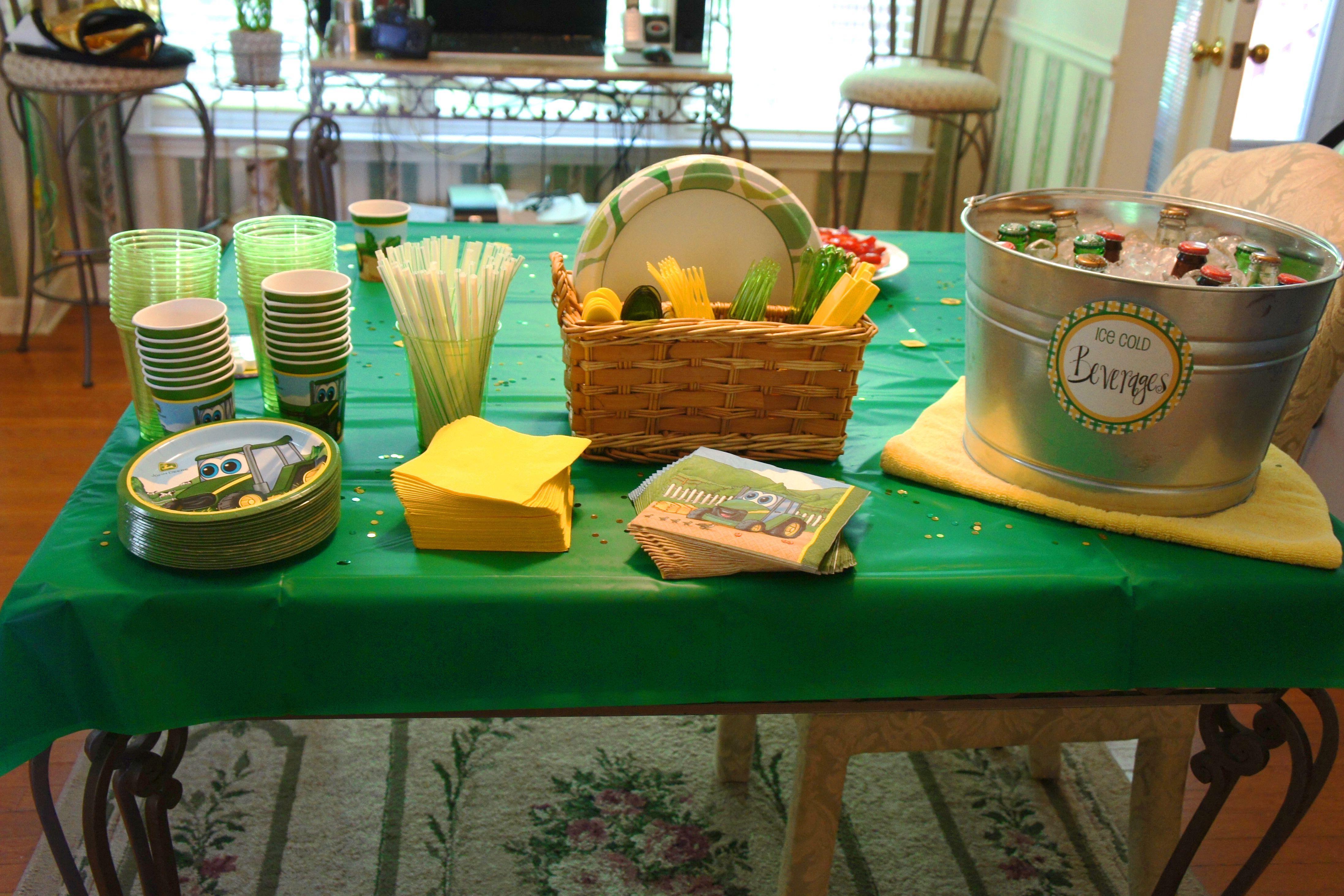 John Deere Birthday Party Just For Kids Pinterest