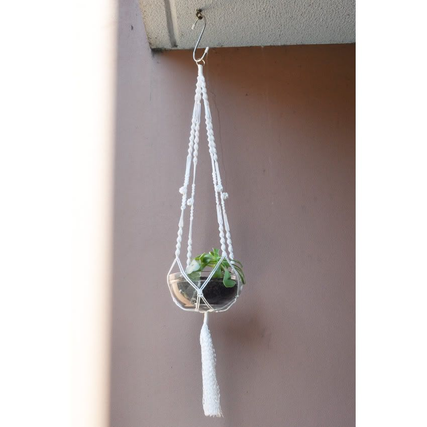Macrame Hanging Plant Holder Projects Pinterest