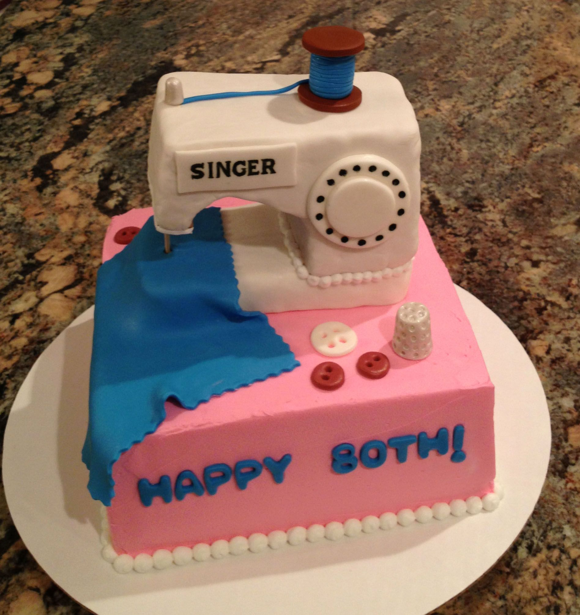 Sewing Machine Cake | CakesbyLynn | Pinterest