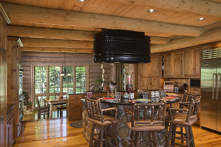 Unique Range Hood Log Home Kitchens Pinterest