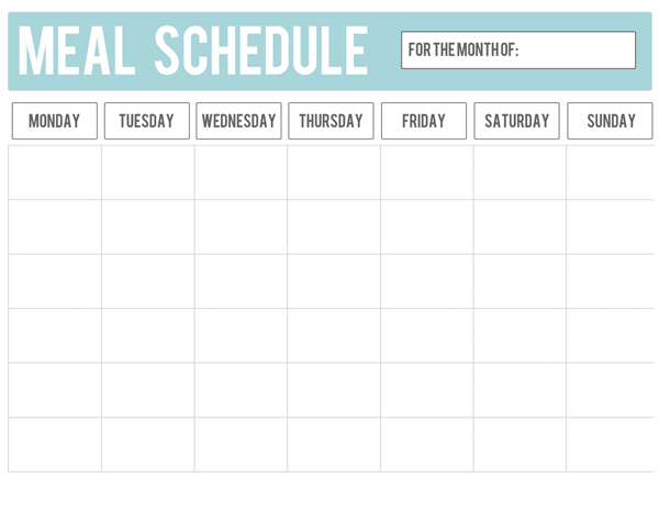 Monthly Calendar Meal Planning – imvcorp
