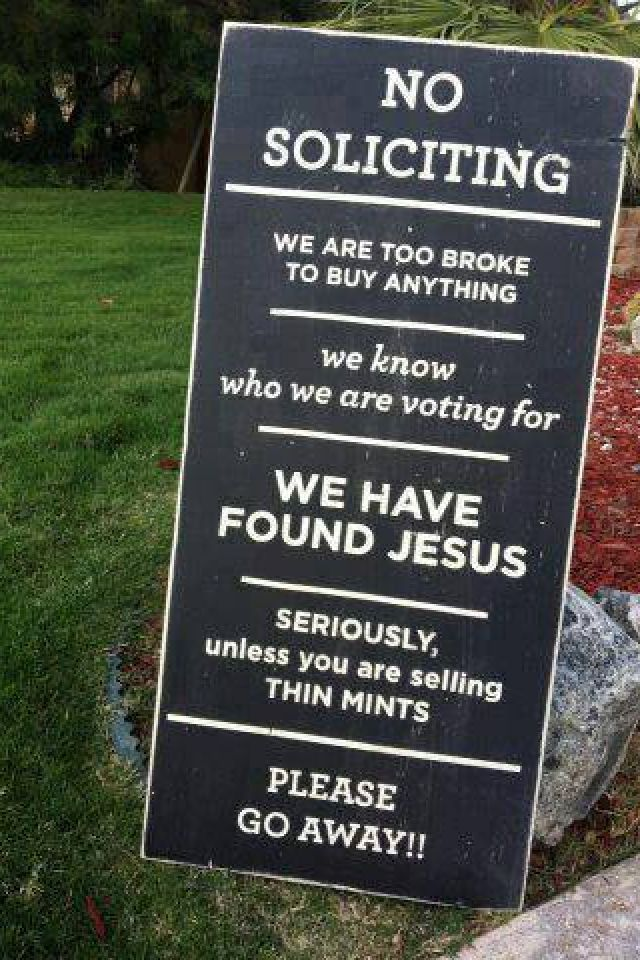 Funny no soliciting sign home stuff pinterest - Funny soliciting signs ...