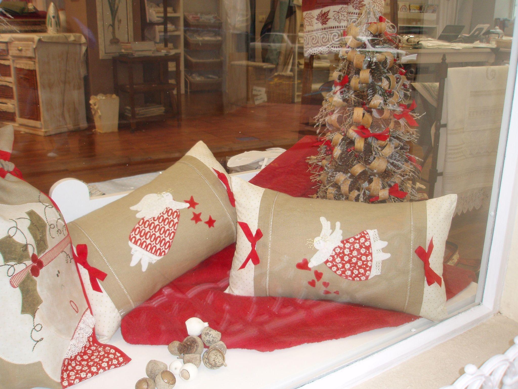 Cojines angelotes navidad tela bellezas pinterest - Cojines de navidad ...