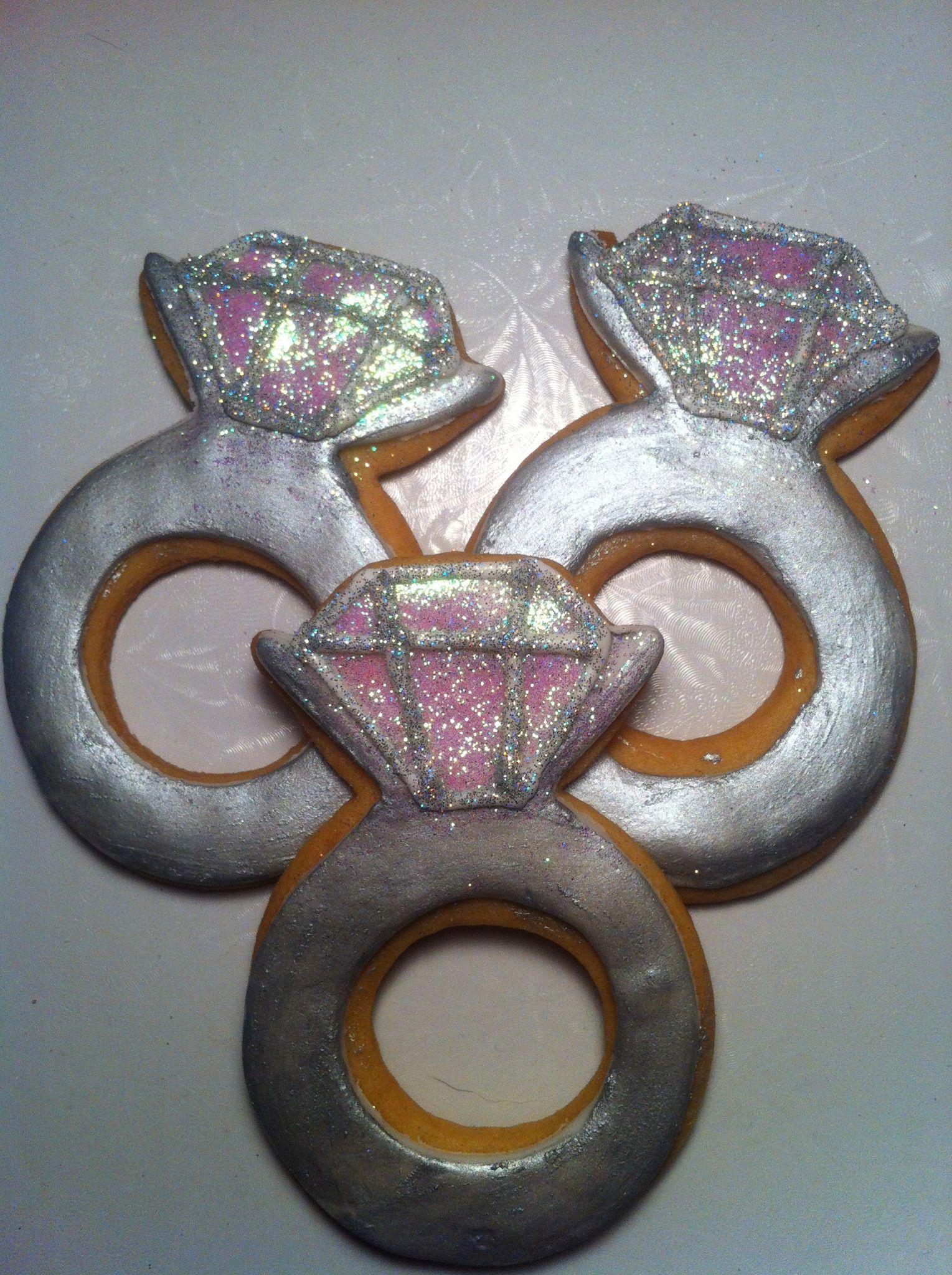 engagement ring cookies cookies
