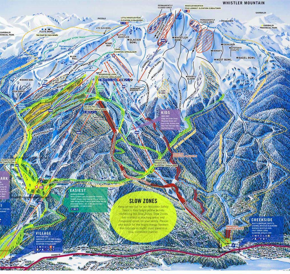 Trail Map Whistler #whistler   ★ Everything Whistler ★   Pinterest