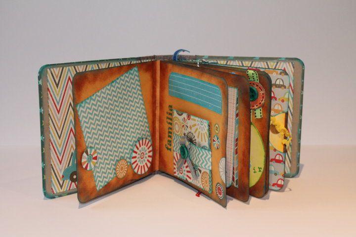 Jardinet de paper scrapbooking mini lbum infantil para - Como hacer un album scrapbook ...