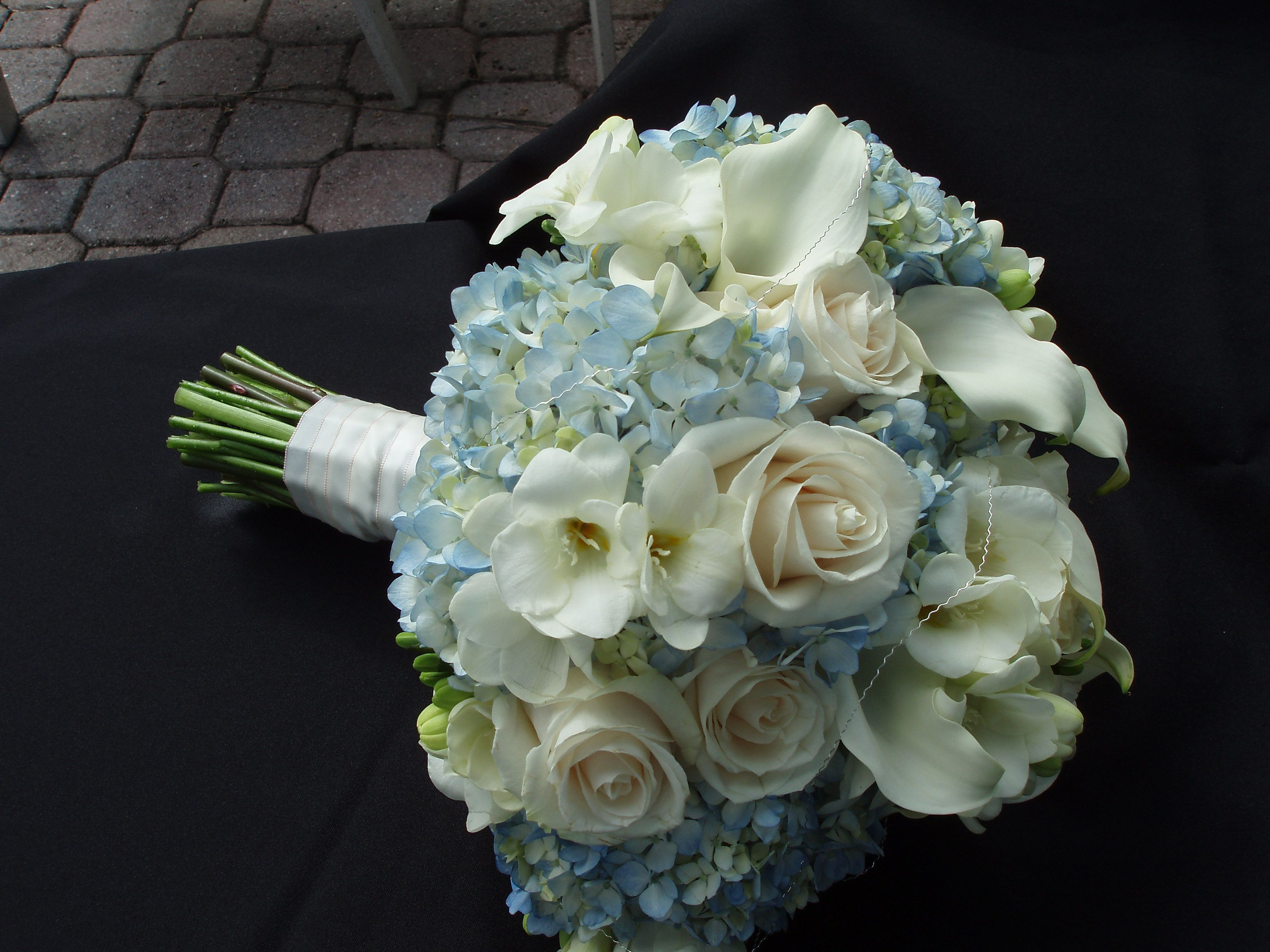 Light Blue And White Bouquet Blue And White Bridal Bouquets Pinte