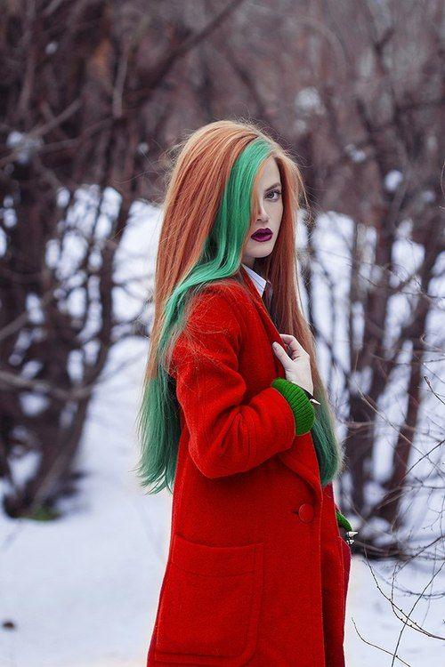 natural hair dye green