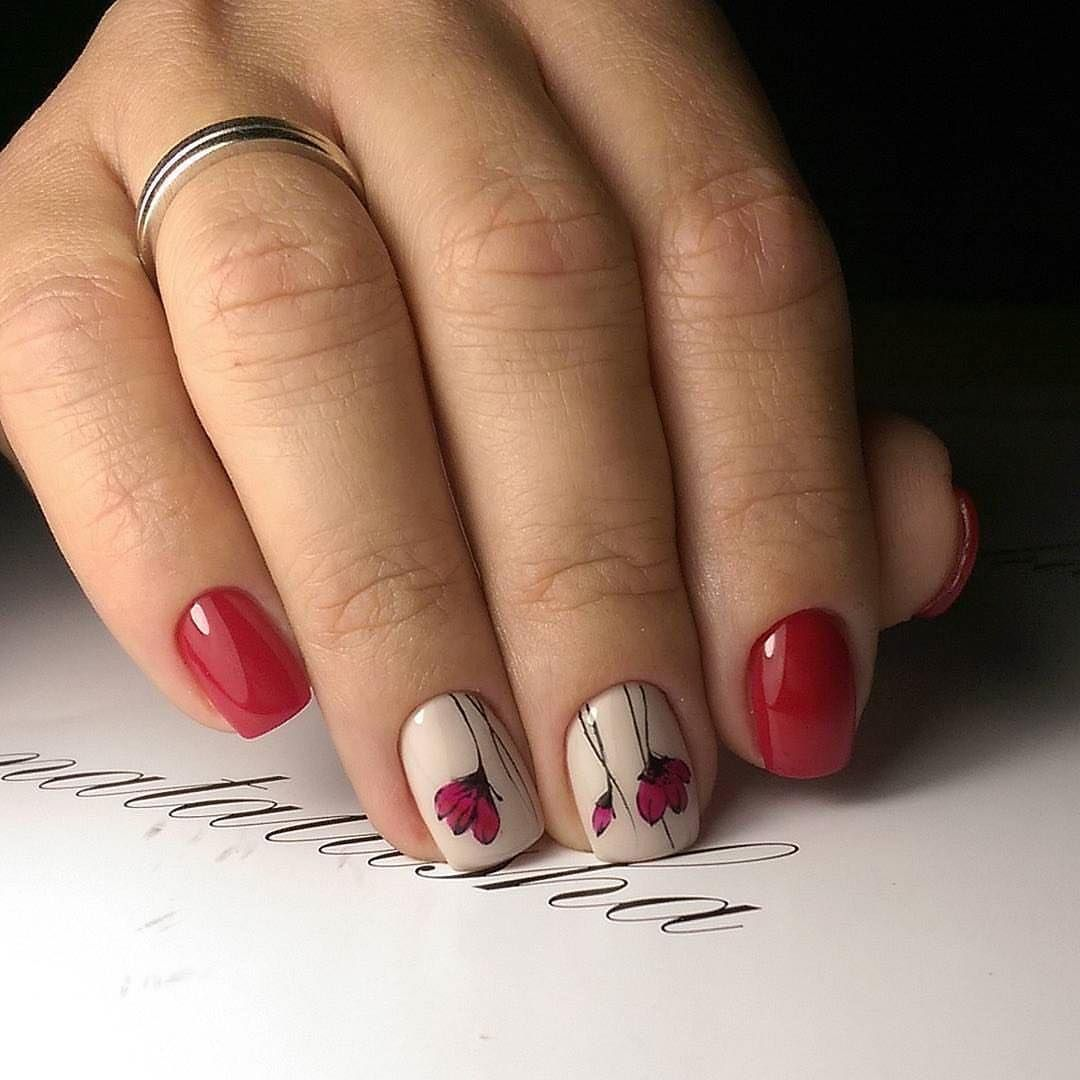 Легкий маникюр на короткие ногти фото дизайн