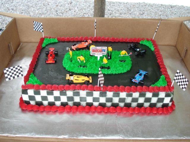 Cake Decorating Car Race Track : race track cake. Cake Ideas Pinterest