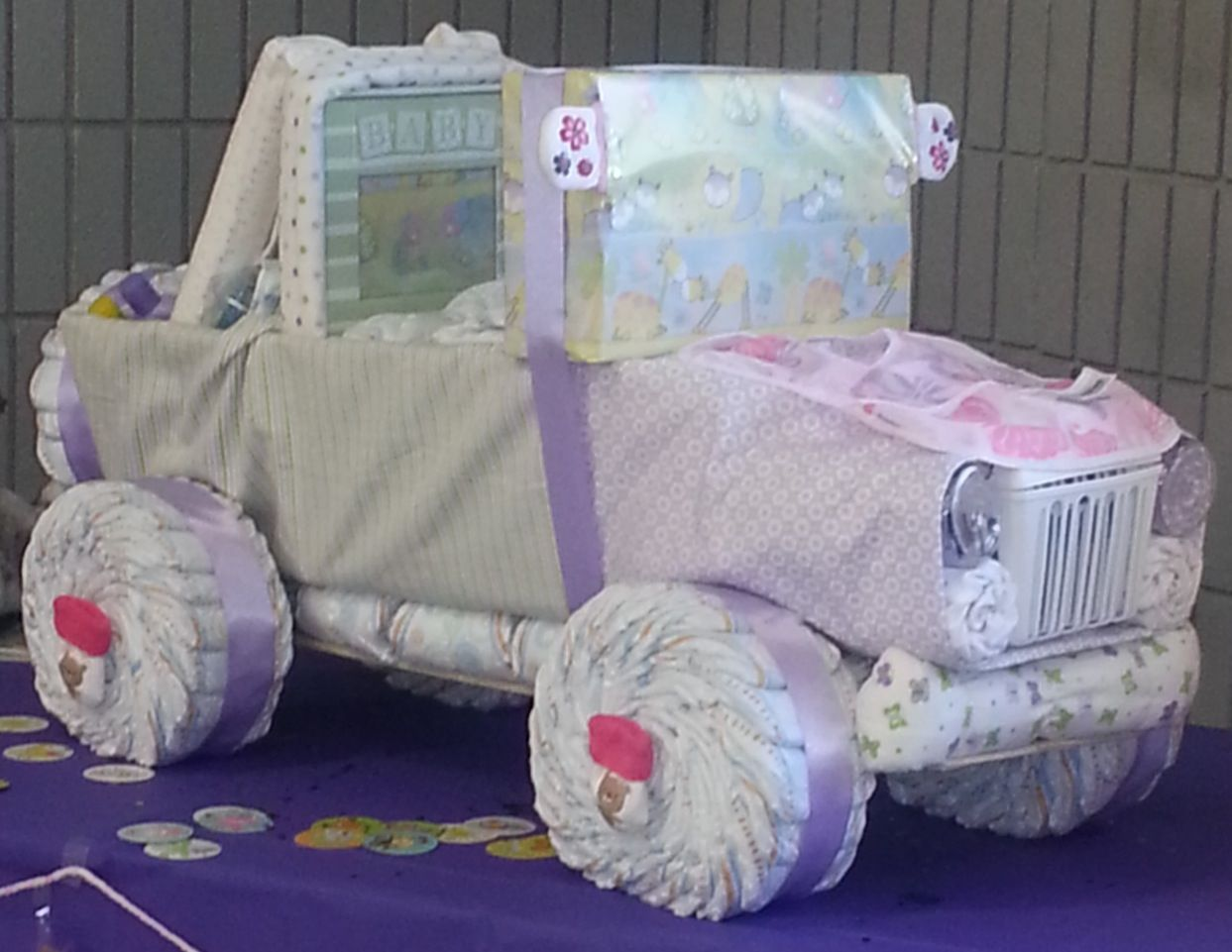 Diaper Jeep Cake Instructions