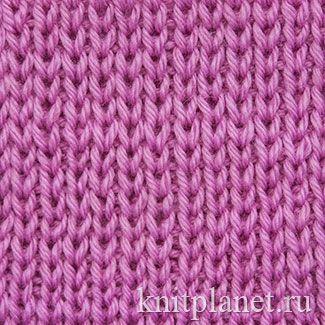 Вязание спицами резинка 1x1 29