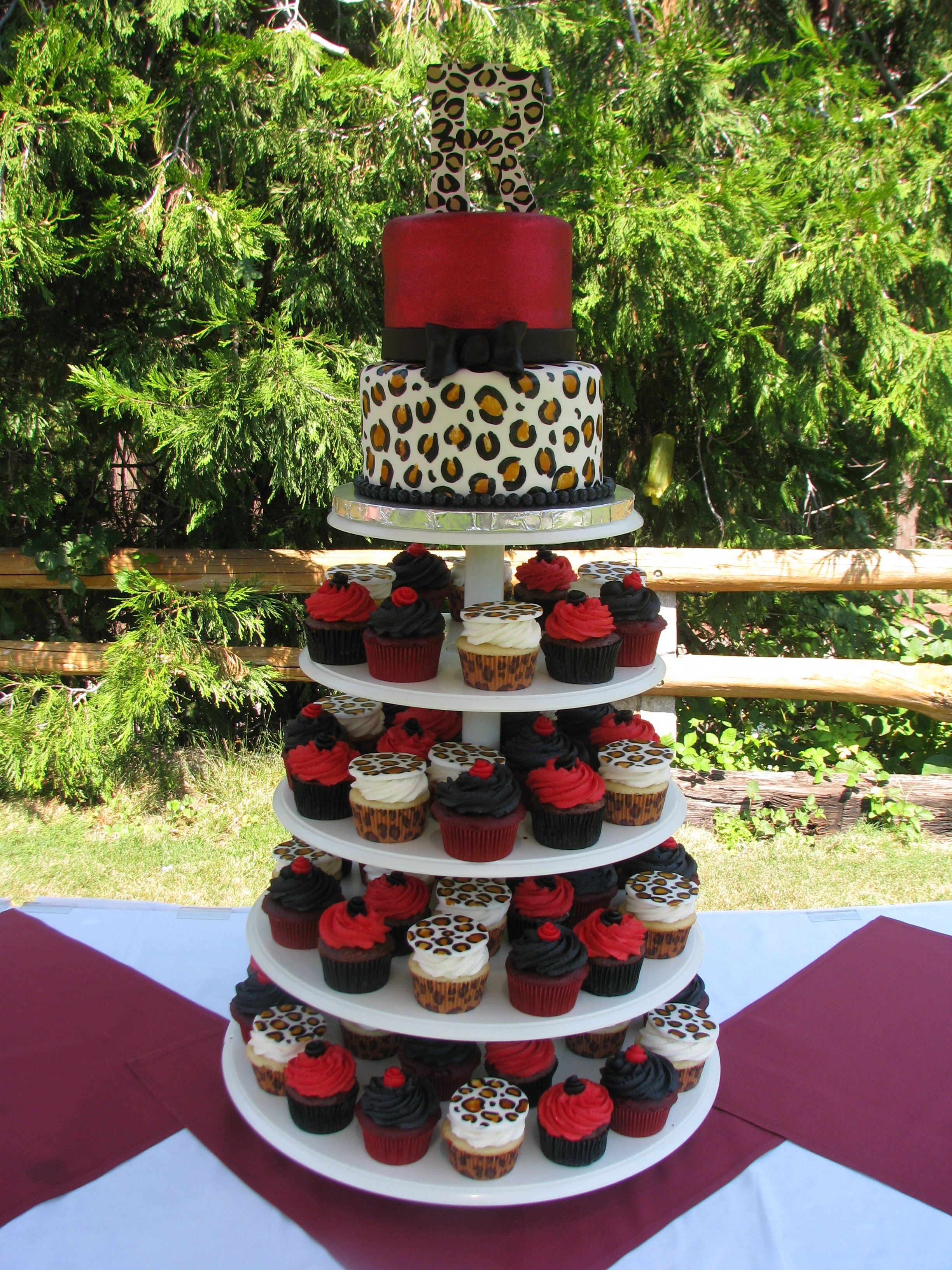 Leopard print wedding cake birthday party pinterest for Animal print decoration party