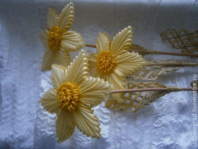 Мастер класс цветок из соломки
