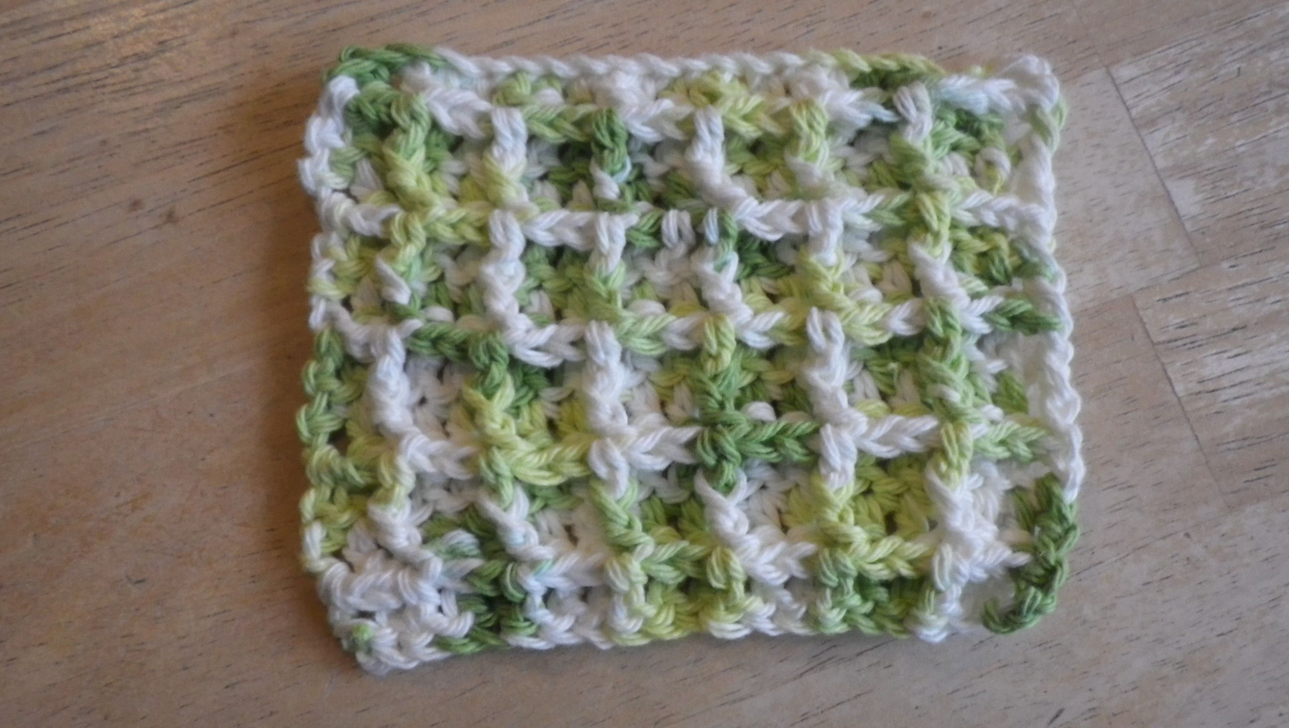 Waffle stitch crochet dishcloth. crochet Pinterest