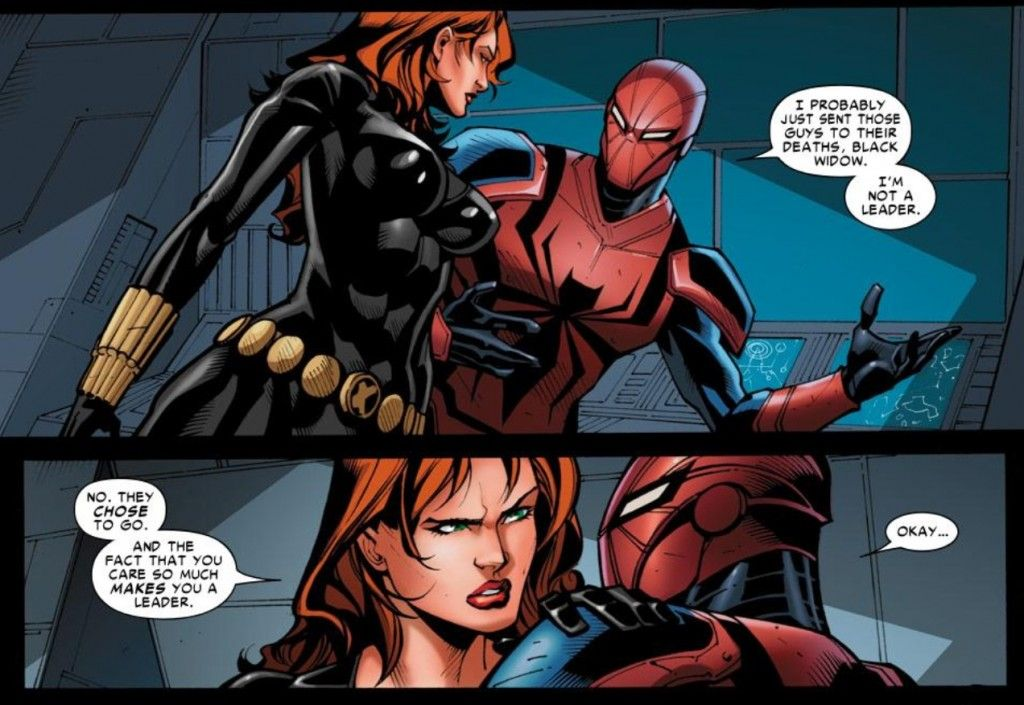 Spiderman kiss black widow