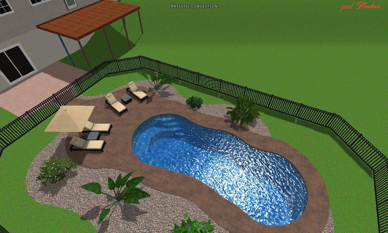 3d riviera fiberglass pool design artistic 3d pool for Pool design 3d