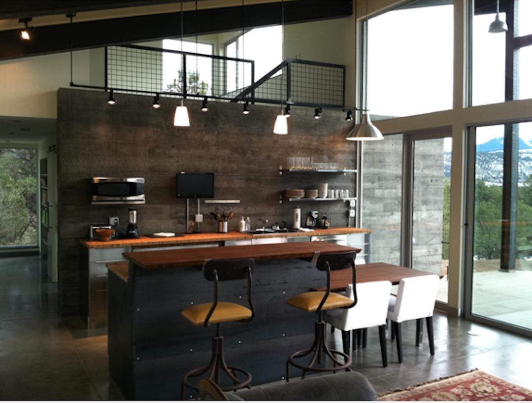 industrial loft apartment kitchen decoracion pinterest. Black Bedroom Furniture Sets. Home Design Ideas