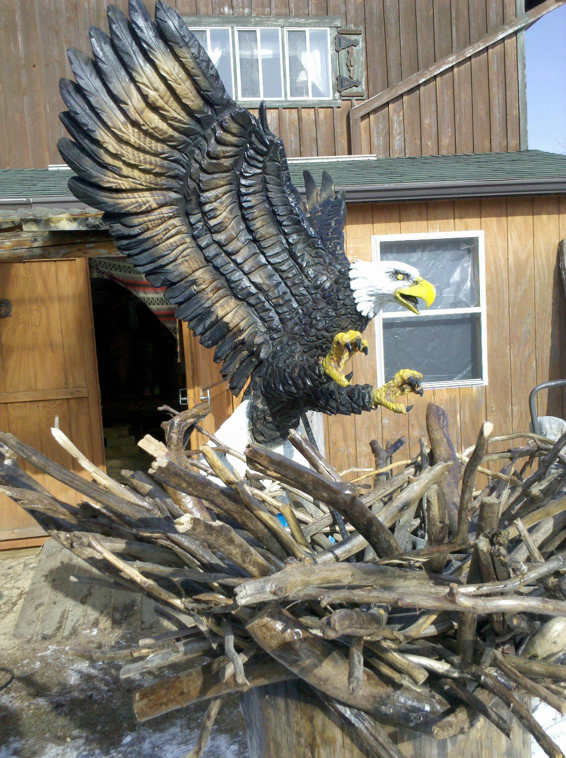 Chainsaw carved by jeff pinney art pinterest