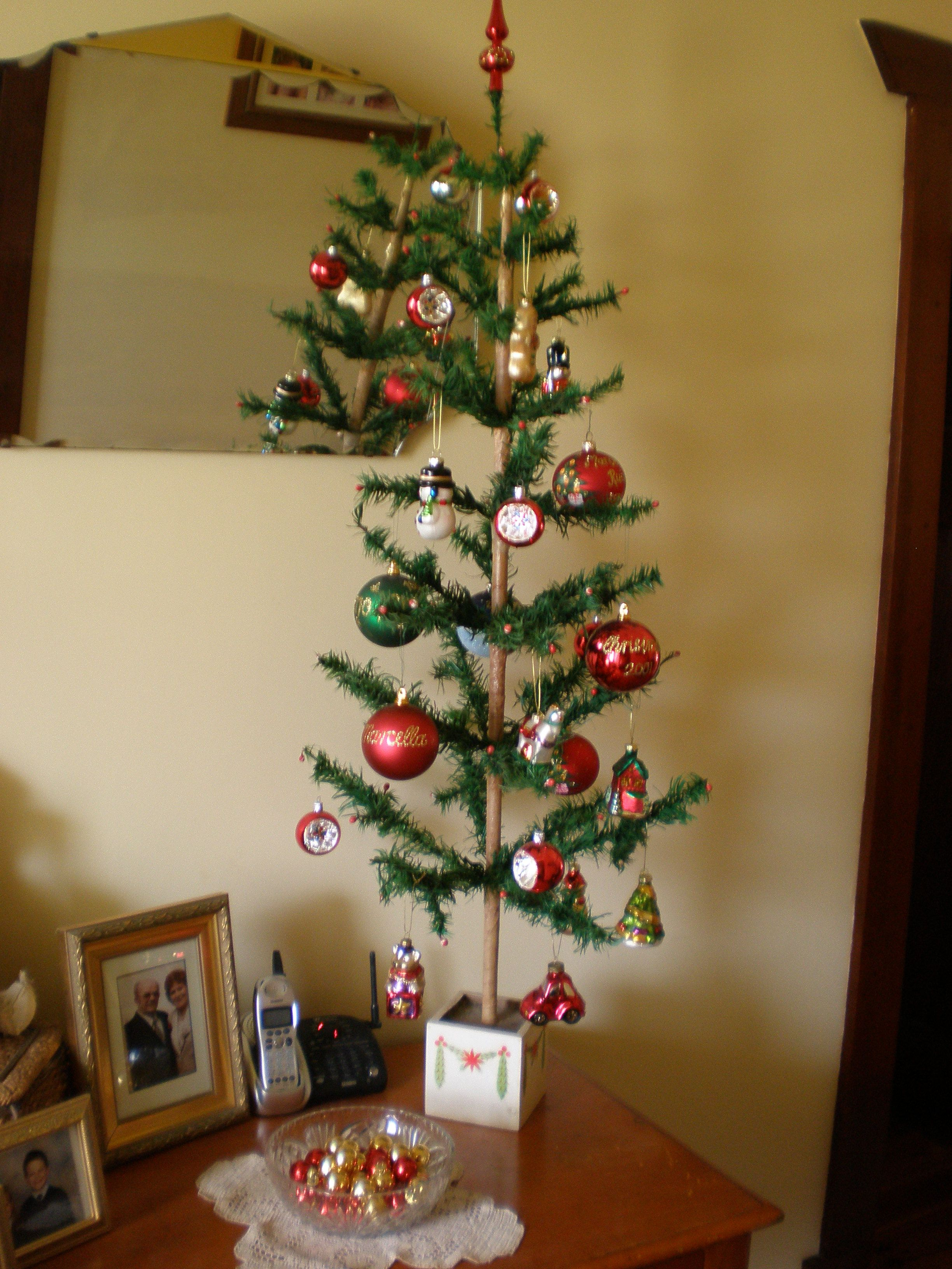 German Feather Tree.... | Little feather Christmas trees | Pinterest
