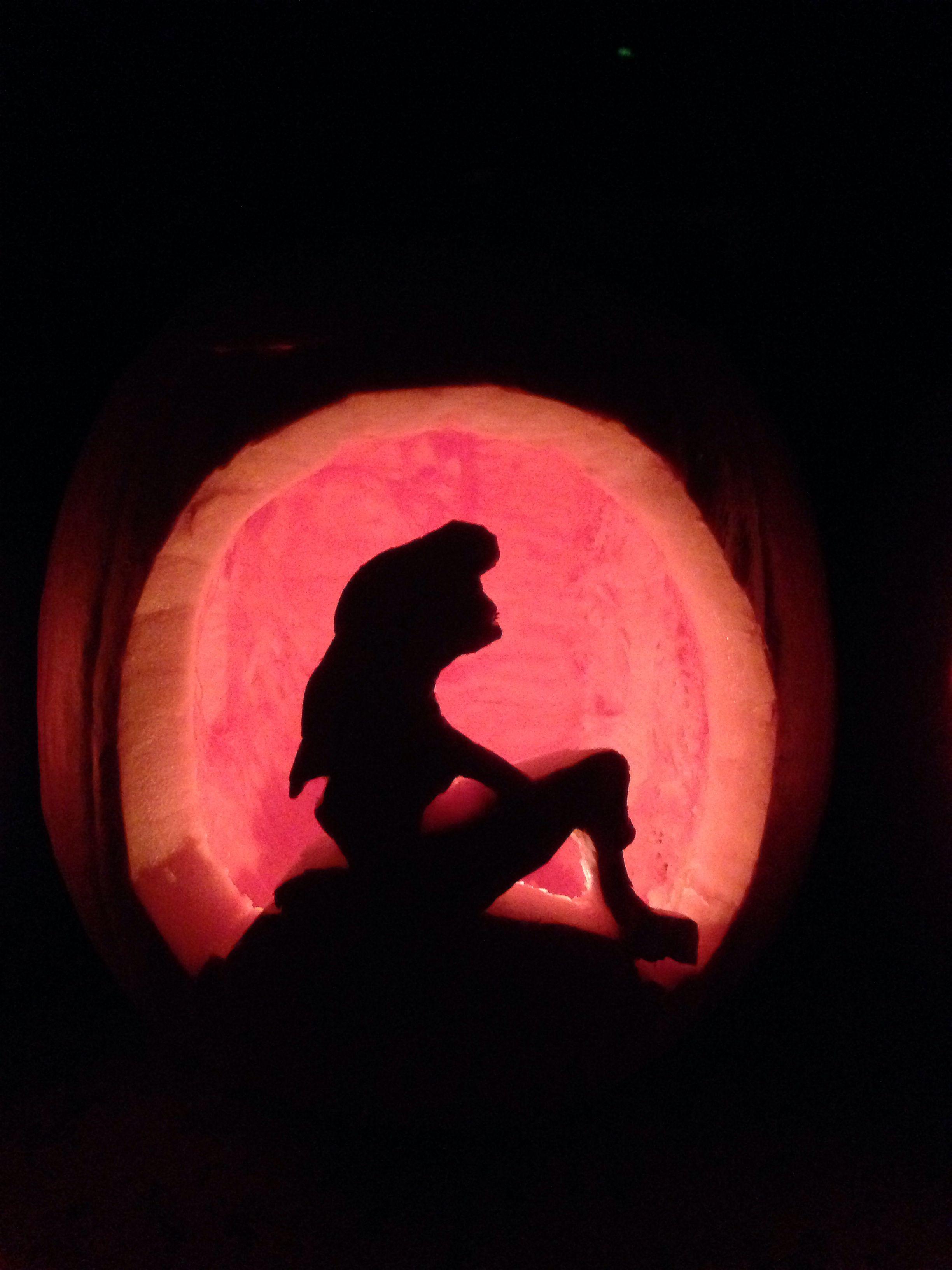 Pin little mermaid pumpkin stencil re downloadscom on