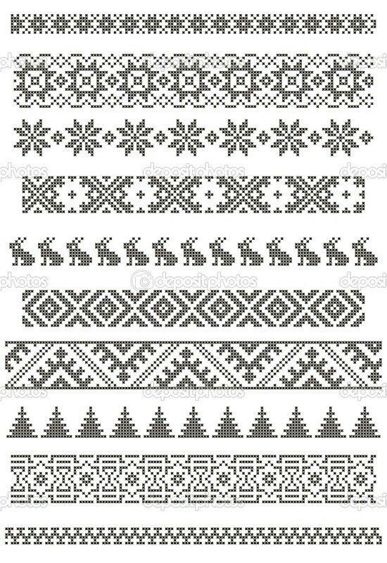 Knitting Border Stitch Patterns : 1000+ images about Tapestry/Mochila crochet on Pinterest Tapestry crochet, ...