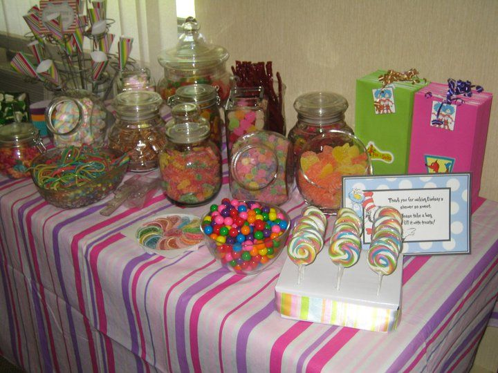 dr seuss candy table baby shower ideas pinterest