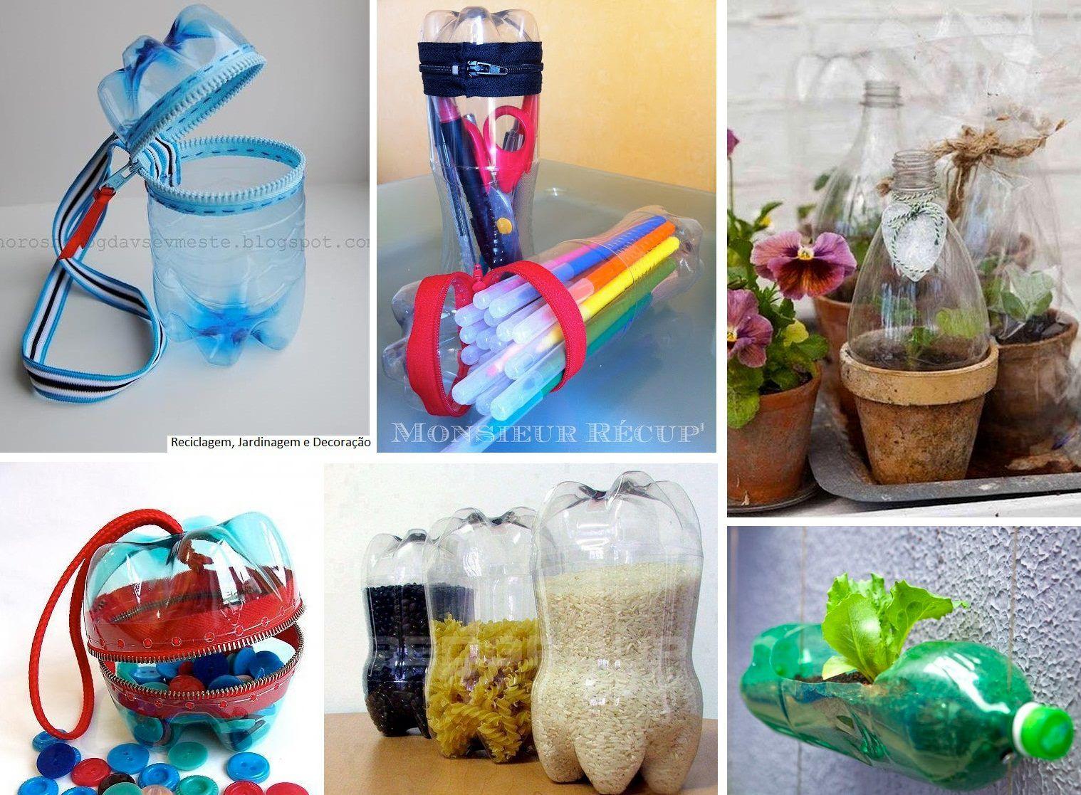 Avec des bouteilles en plastique bricolage pinterest - Bricolage avec bouteille plastique ...