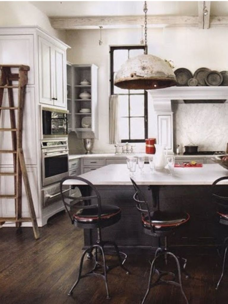 Great industrial french country kitchen my style for Country industrial kitchen designs