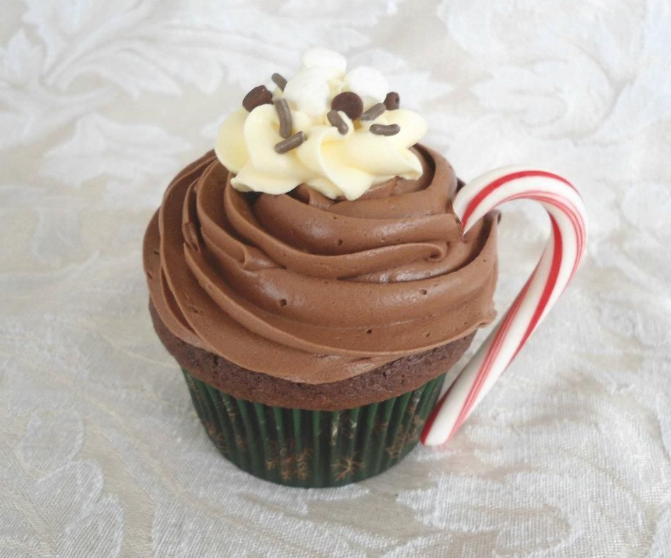 Hot Cocoa Cupcakes Recipe — Dishmaps