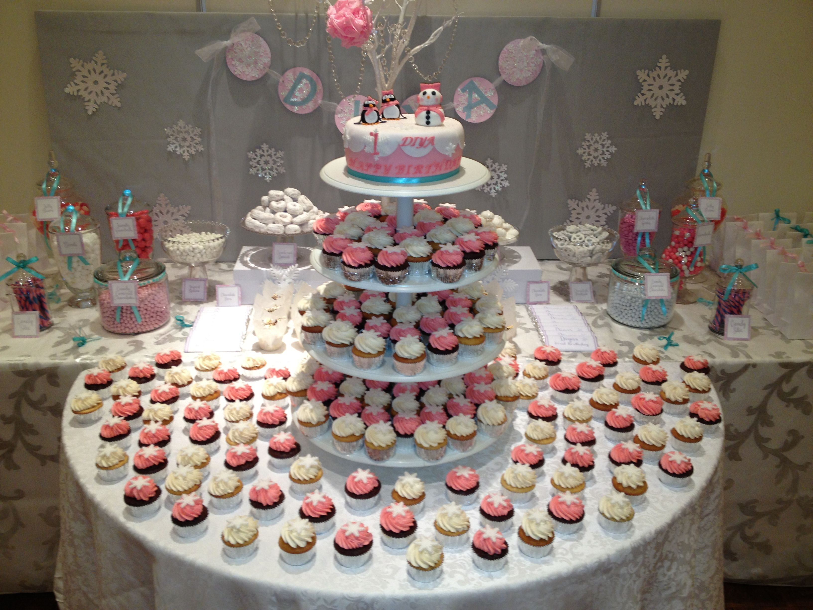 Pin cake at a winter onederland party winterparty ideas cake on