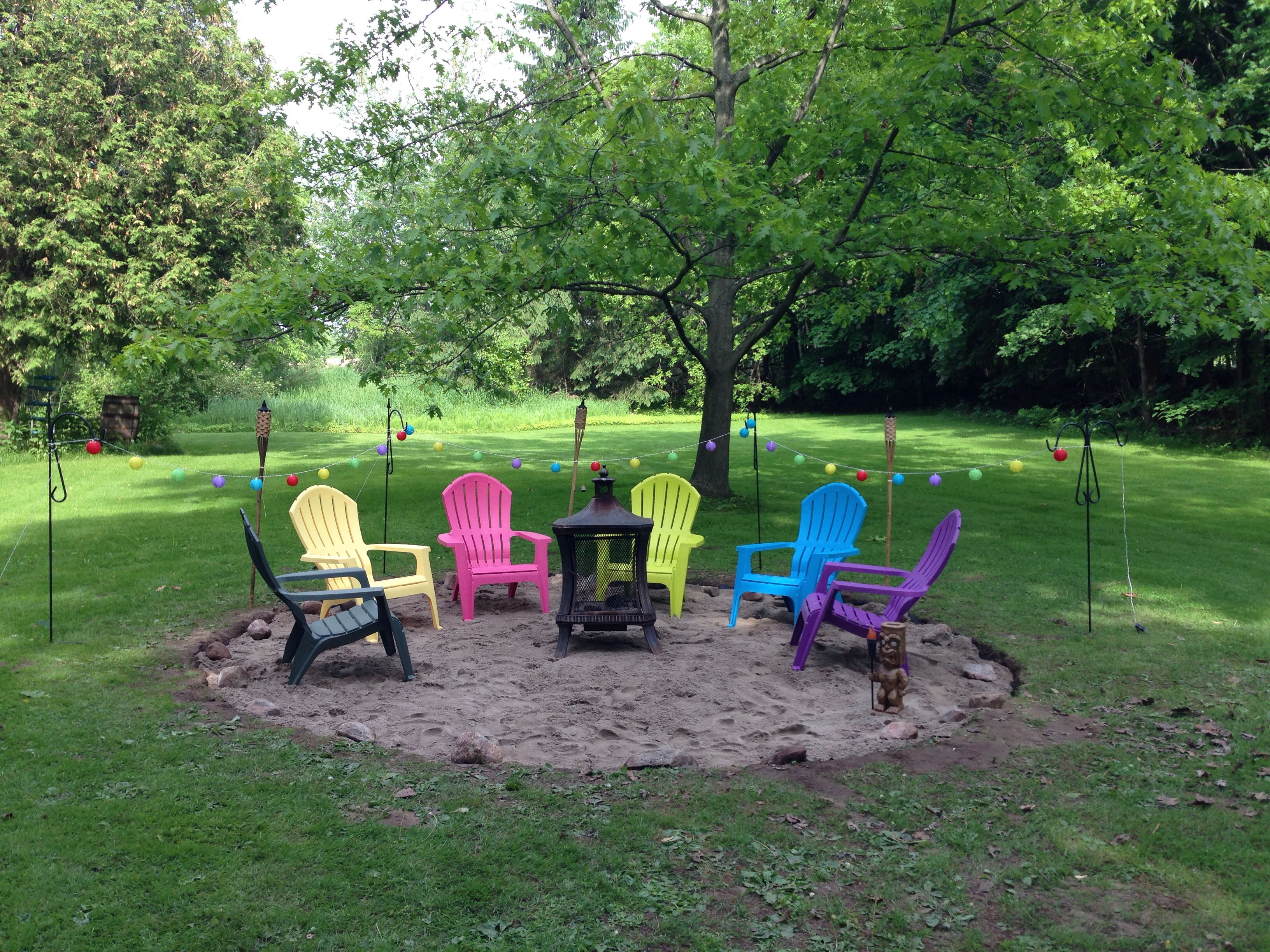 Sand Fire Pit Backyard : Backyard sand pit  Yard Ideas  Pinterest
