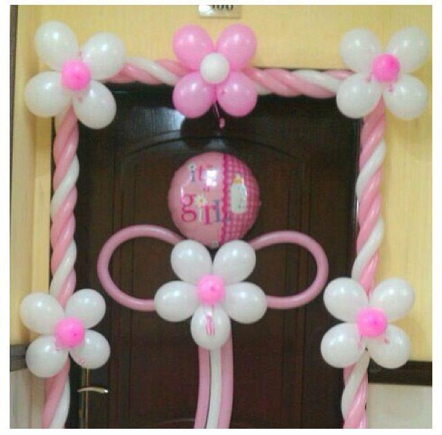 Baby shower balloon decor decor ideas pinterest for Balloon art for baby shower