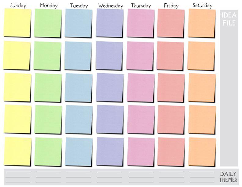 7 Day Weekly Calendar Template – printable calendar 2017