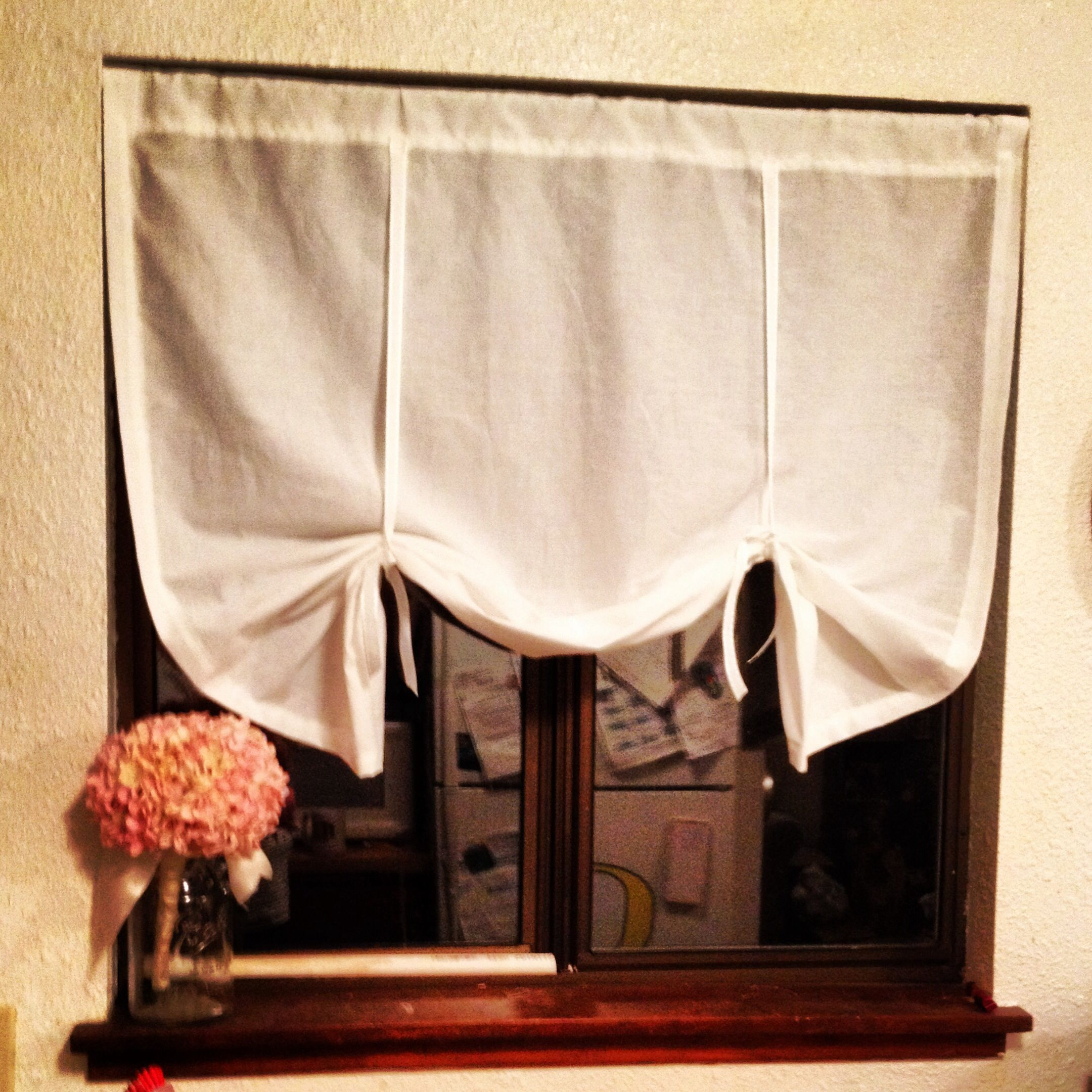 Diy Pottery Barn Style Tie Up Curtains Home Inspirations
