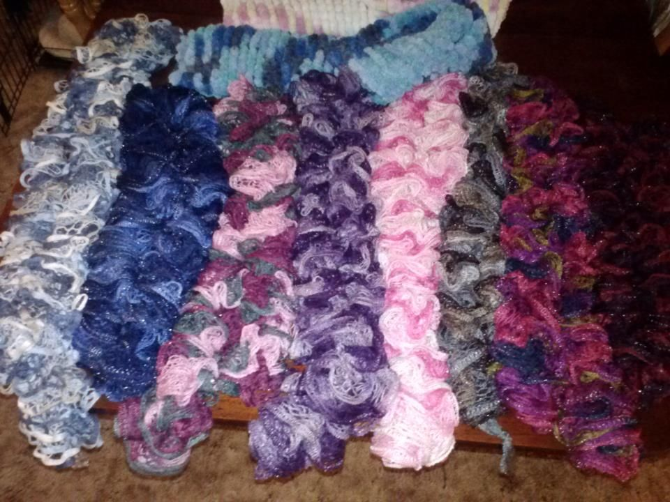 Crochet Pattern For Scarf Using Sashay Yarn : Crocheted Scrafs with sashay yarn! crochet Pinterest