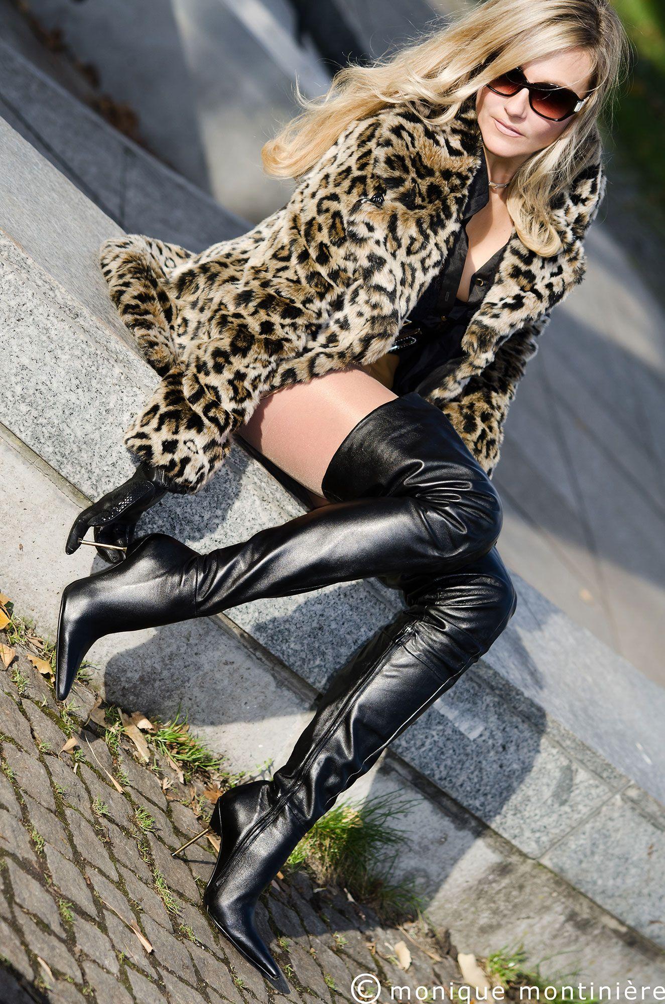 Monique montiniere in arollo thigh high boots stiletto roma http www