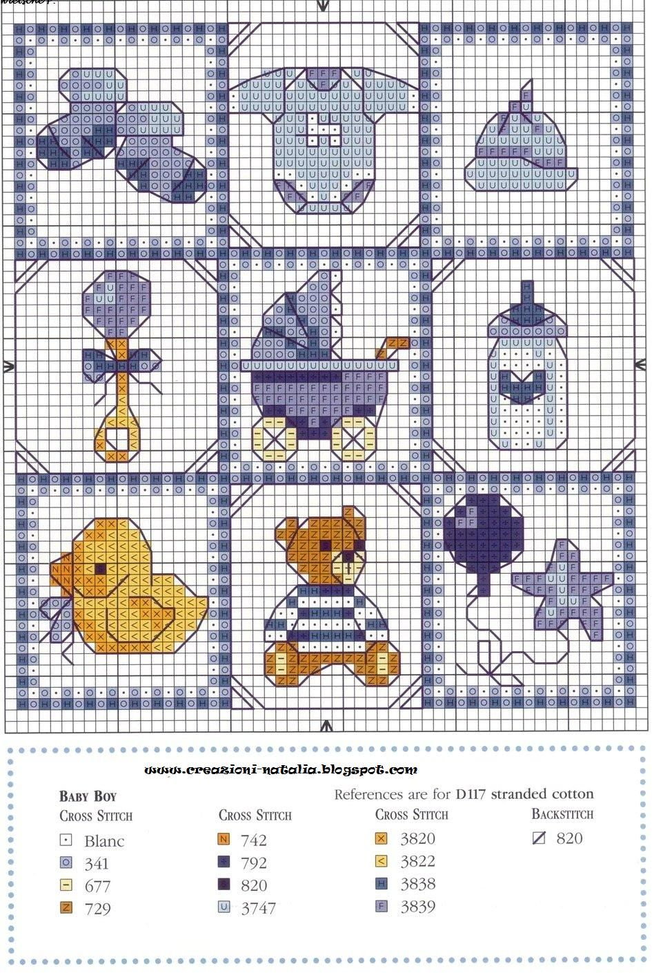 Punto croce alfabeto bambini zoom disegni punto croce for Schemi punto croce alfabeto bambini
