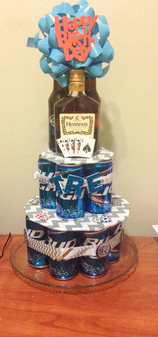 Подарок из пива в банках своими 27
