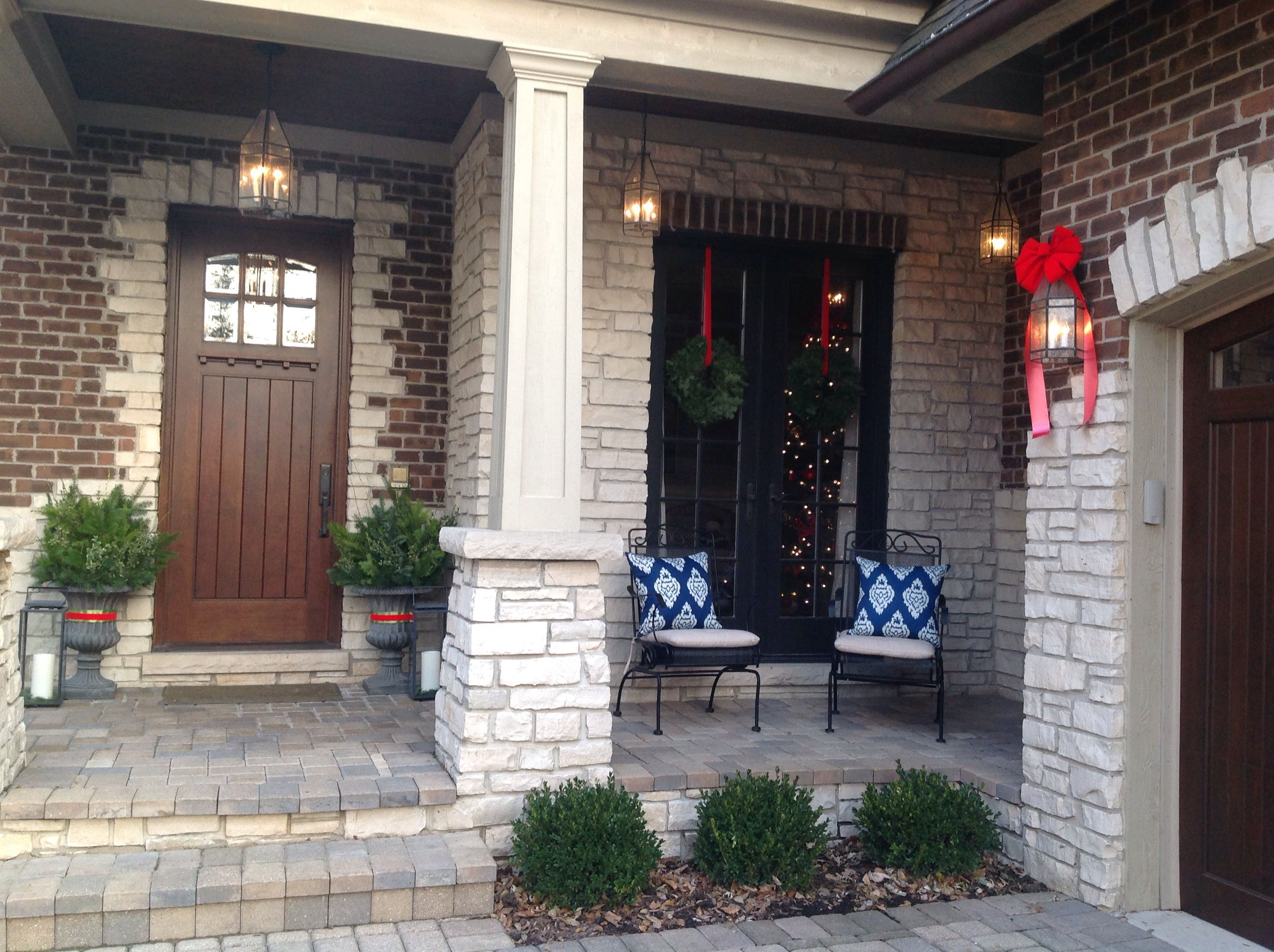 Front porch christmas decorations | Christmas Holiday | Pinterest