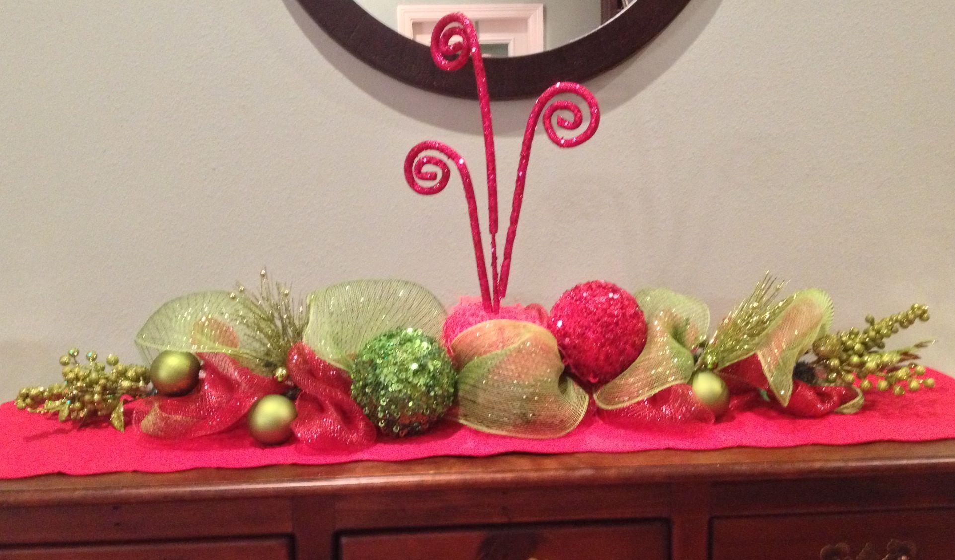 Buffet table centerpiece christmas ideas pinterest
