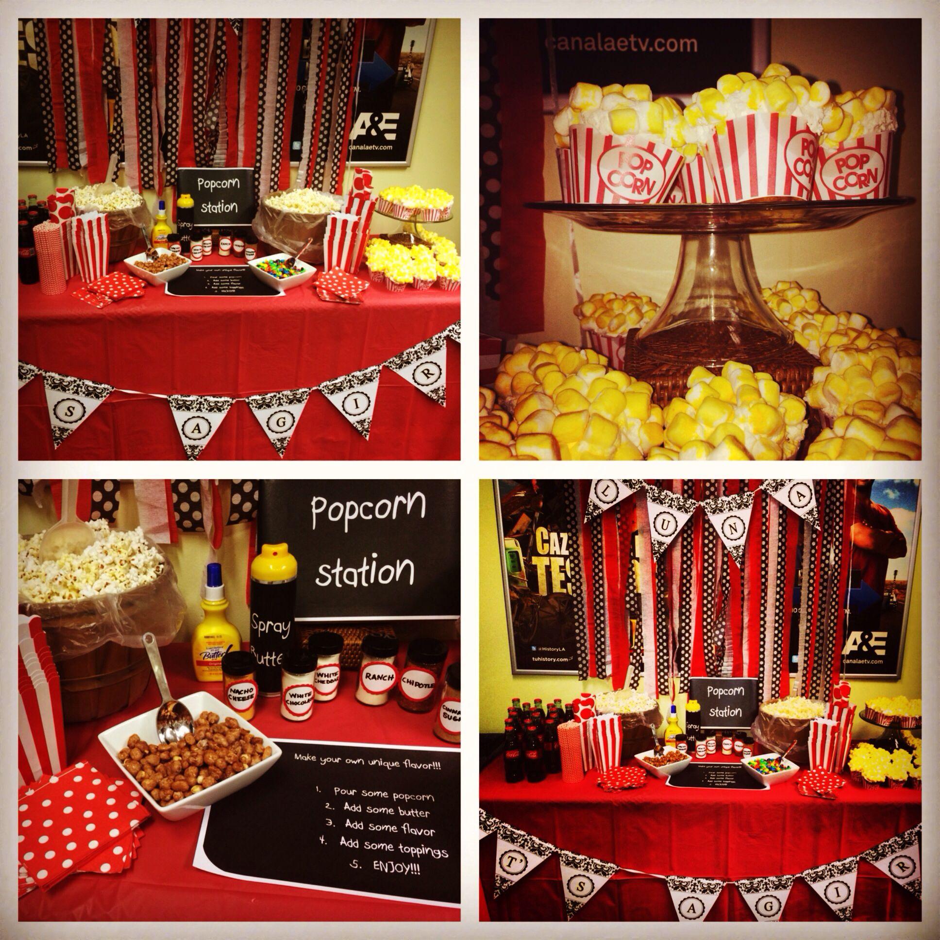 Popcorn Bar Party Ideas Pinterest