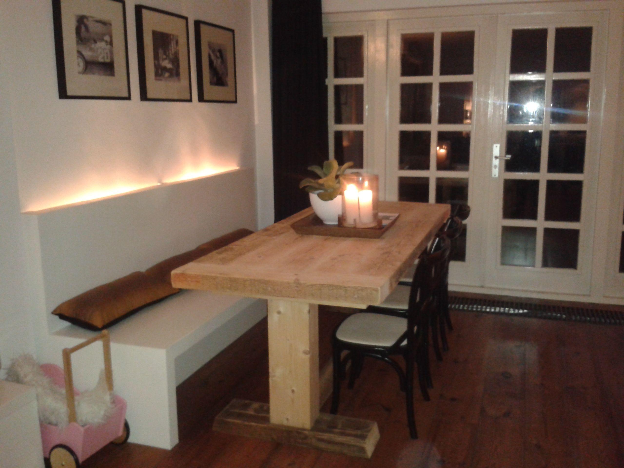 Eetbank Keuken : Zelf gemaakt eetbank met verlichting Vakantiehuis Pinterest