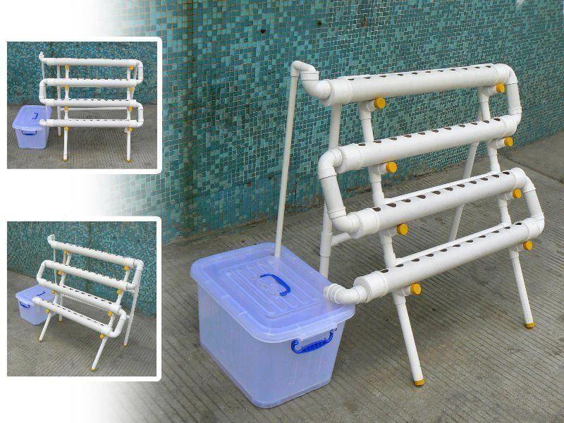 Nutrient film hydroponic system gardening pinterest - Hydroponic container gardening ...