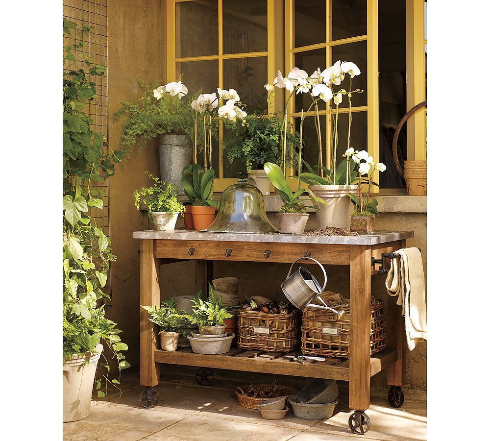 Potting Bench In The Garden Pinterest